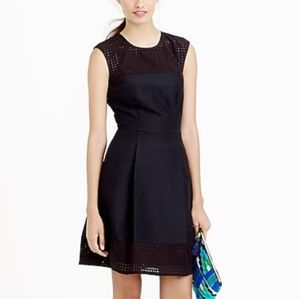 J.Crew perforated A-line black dress size 4